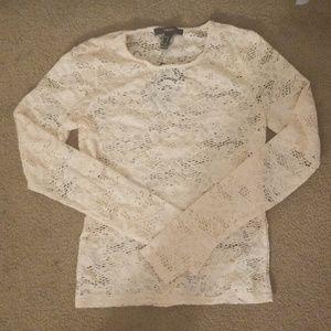 Cream Flower Shirt by Forever 21